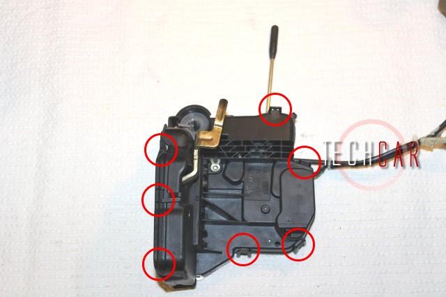 t rschloss reparaturset mercedes w211 w203 w209 2 feder techcar parts ebay. Black Bedroom Furniture Sets. Home Design Ideas