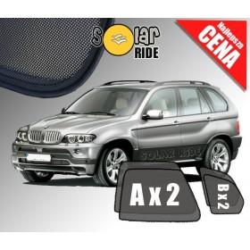 Zasłonki / roletki / osłony / osłonki przeciwsłoneczne dedykowane / pod wymiar / do BMW X5 E53 (1999-2006)