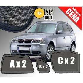 Zasłonki / roletki / osłony przeciwsłoneczne dedykowane do BMW X3 E83 (2003-2010)