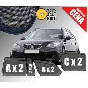 Zasłonki / zasłony / rolety / roletki / osłony / osłonki przeciwsłoneczne dedykowane / pod wymiar / do BMW E61 Touring