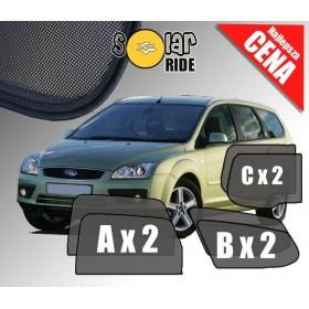 Zasłonki / roletki / osłony przeciwsłoneczne dedykowane do Ford Focus MKII Kombi od 2004