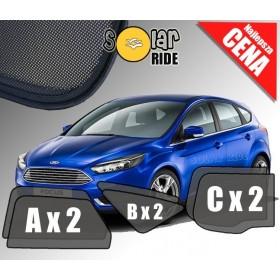 Zasłonki / zasłony / rolety / roletki / osłony / osłonki przeciwsłoneczne dedykowane / pod wymiar / do Ford Focus III Hatchback