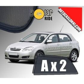 Zasłonki / roletki / osłony przeciwsłoneczne dedykowane do Toyota Corolla IX (E120, E130)  2002-2007