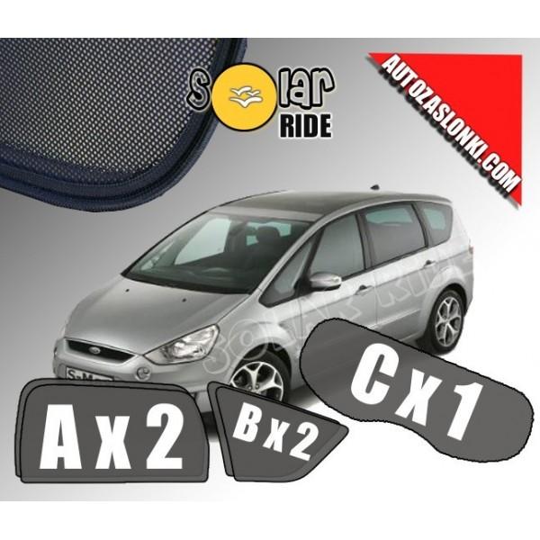 Zasłonki / zasłony / rolety / roletki / osłony / osłonki przeciwsłoneczne dedykowane / pod wymiar / do Ford S-Max I