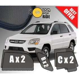 UV Car Shades, Sunshades, Car Window Sun Blinds KIA SPORTAGE (2005-2010)