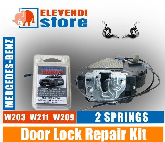 mercedes c e class w203 w209 w211 door lock repair kit 2 x springs ebay. Black Bedroom Furniture Sets. Home Design Ideas