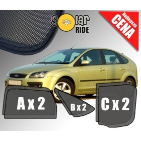 Zasłonki / roletki / osłony / osłonki przeciwsłoneczne dedykowane / pod wymiar / do Ford Focus II Hatchback 5 Drzwi