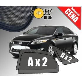 Zasłonki / roletki / osłony / osłonki przeciwsłoneczne dedykowane / pod wymiar / do Forda Mondeo IV Sedan Liftback