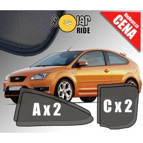 Zasłonki / roletki / osłony / osłonki przeciwsłoneczne dedykowane / pod wymiar / do Ford Focus II Hatchback 3 Drzwi