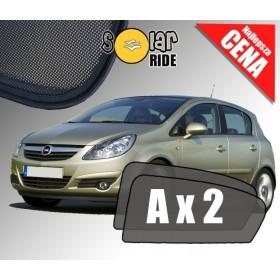 Zasłonki / roletki / osłony przeciwsłoneczne dedykowane do Opel Corsa D (2006-2014)
