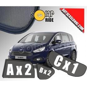 Zasłonki / zasłony / rolety / roletki / osłony / osłonki przeciwsłoneczne dedykowane / pod wymiar / do Ford S-Max II (2015-)