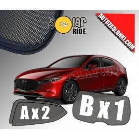Zasłonki / roletki / osłony przeciwsłoneczne dedykowane do Mazda 3 IV Hatchback (2019-)
