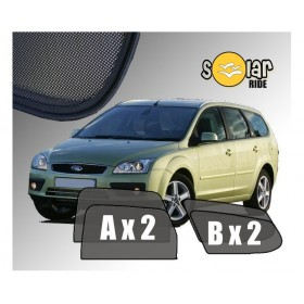 Zasłonki / roletki / osłony / osłonki przeciwsłoneczne dedykowane / pod wymiar / do Ford Focus II Kombi (2004-2011)