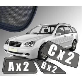 Zasłonki / roletki / osłony / osłonki przeciwsłoneczne dedykowane / pod wymiar  Mercedes W203 C-Klasa Kombi