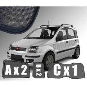 Zasłonki / roletki / osłony / osłonki przeciwsłoneczne dedykowane / pod wymiar / do Fiat Panda II, 2003-2012