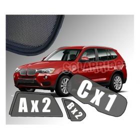 Zasłonki / roletki / osłony / osłonki przeciwsłoneczne dedykowane / pod wymiar / do BMW X3 F25 (2010-2017