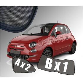 Zasłonki / roletki / osłony / osłonki przeciwsłoneczne dedykowane / pod wymiar / do Fiata 500 od 2007 do teraz
