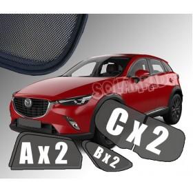 Zasłonki / zasłony / rolety / roletki / osłony / osłonki przeciwsłoneczne dedykowane / pod wymiar / do Mazda CX-3 (2015-)