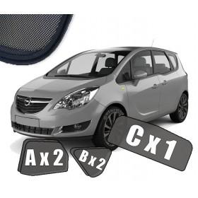 Zasłonki / roletki / osłony przeciwsłoneczne dedykowane do Opel Meriva B  (2010-2017)