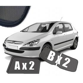 Zasłonki / roletki / osłony przeciwsłoneczne dedykowane do Peugeot 307 Hatchback 5 drzwi (2001-2008)