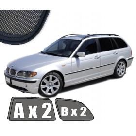 Zasłonki / roletki / osłony / osłonki przeciwsłoneczne dedykowane / pod wymiar / do BMW serii 3 E46 TOURING / KOMBI (1998-2005)