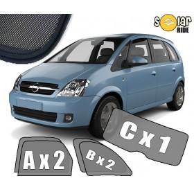 Zasłonki / roletki / osłony przeciwsłoneczne dedykowane do Opel Meriva A (2003-2010)