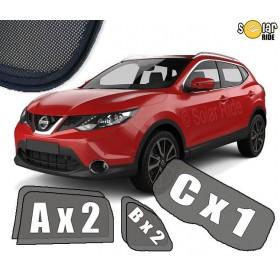 Zasłonki / zasłony / rolety / roletki / osłony / osłonki przeciwsłoneczne dedykowane / pod wymiar / do Nissan Qashqai II (2013-)