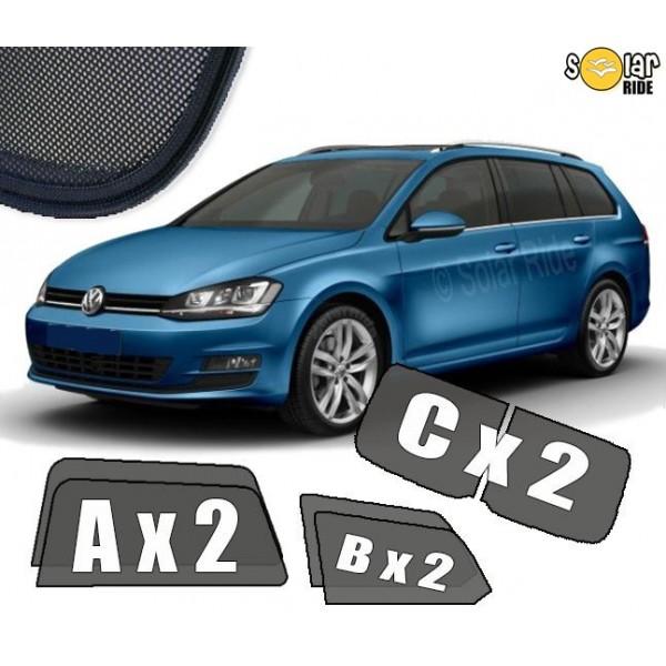 Zasłonki / roletki / osłony przeciwsłoneczne dedykowane do Volkswagen Golf 7 Kombi Variant