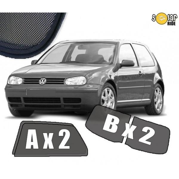 Zasłonki / roletki / osłony przeciwsłoneczne dedykowane do VW Volkswagen Golf 4 (3 Drzwi) (1997-2006)