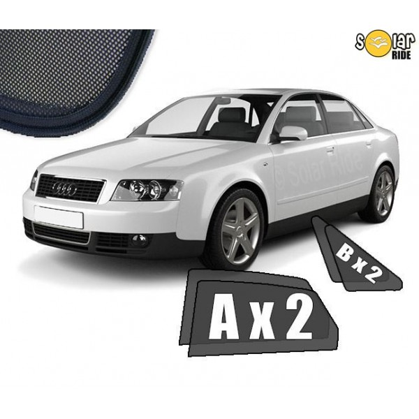 Zasłonki / roletki / osłony przeciwsłoneczne dedykowane do Audi A4 B6 Sedan 2000-2006