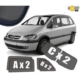 Zasłonki / roletki / osłony przeciwsłoneczne dedykowane do Opel Zafira A (1999-2005)
