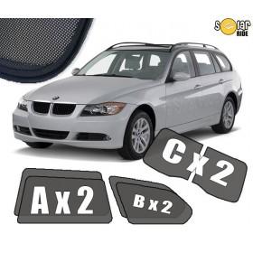 Zasłonki / zasłony / rolety / roletki / osłony / osłonki przeciwsłoneczne dedykowane / pod wymiar / do BMW E91 TOURING