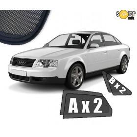 Zasłonki / zasłony / rolety / roletki / osłony / osłonki przeciwsłoneczne dedykowane / pod wymiar / do Audi A6 C5 Sedan