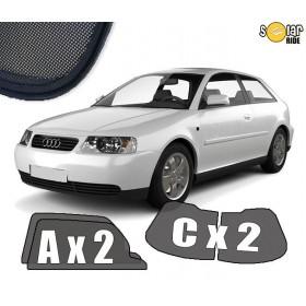 Zasłonki / roletki / osłony przeciwsłoneczne dedykowane do Audi A3 8L (1996-2003) 3 drzwiowy