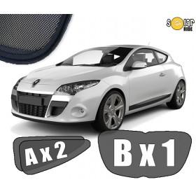 Zasłonki / roletki / osłony przeciwsłoneczne dedykowane do Renault Megane 3 III Coupe 2008-2015