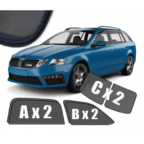 UV Car Shades, Sunshades, Car Window Sun Blinds Skoda Octavia 3 III (2013-2019) Estate
