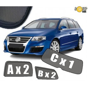 UV Car Shades, Sunshades, Car Window Sun Blinds VW Volkswagen Passat B6 Estate
