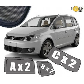 UV Car Shades, Sunshades, Car Window Sun Blinds VW Volkswagen Touran 2010-2015