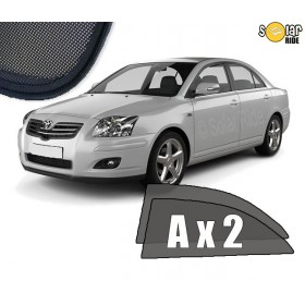 UV Car Shades, Sunshades, Car Window Sun Blinds Toyota Avensis II Liftback (2003-2008) T25