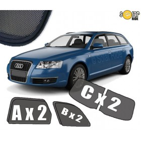 UV Car Shades, Sunshades, Car Window Sun Blinds AUDI A6 AVANT / ESTATE C6 (2004-2011)