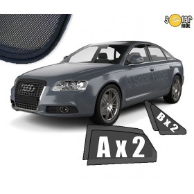 UV Car Shades, Sunshades, Car Window Sun Blinds AUDI A6 C6 SEDAN (2004-2011)