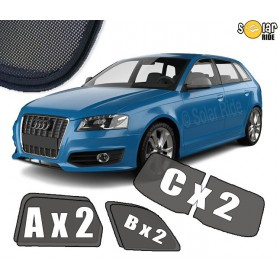 UV Car Shades, Sunshades, Car Window Sun Blinds AUDI A3 SPORTBACK (2003-2012)