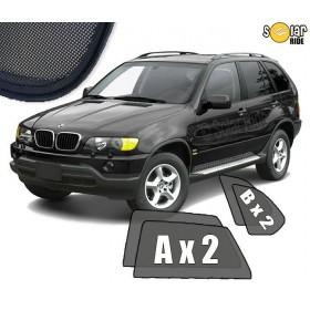 UV Car Shades, Sunshades, Car Window Sun Blinds BMW X5 E53 (1999-2006)
