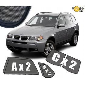 UV Car Shades, Sunshades, Car Window Sun Blinds BMW X3 E83 (2003-2010)