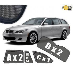 UV Car Shades, Sunshades, Car Window Sun Blinds BMW E61 TOURING