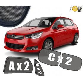 UV Car Shades, Sunshades, Car Window Sun Blinds Citroën C4 II (2010 -)