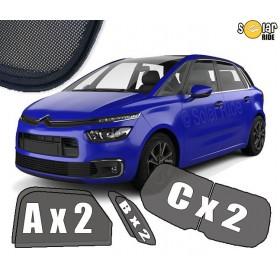UV Car Shades, Sunshades, Car Window Sun Blinds Citroën C4 Picasso II  2013-2019