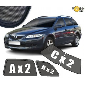 UV Car Shades, Sunshades, Car Window Sun Blinds Mazda 6 (2002-2007) Estate
