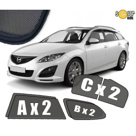 UV Car Shades, Sunshades, Car Window Sun Blinds Mazda 6 (2007-2012) Estate