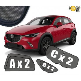 UV Car Shades, Sunshades, Car Window Sun Blinds Mazda CX-3 ( 2015- )